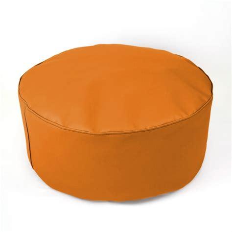taburetes naranjas puf taburete xl naranja casaytextil