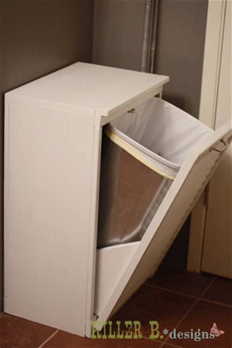tilt out trash cabinet hometalk tilt out trash cabinet from salvaged shutter