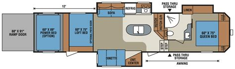 kz toy hauler floor plans 2016 sportsmen sportster 375th12 fifth wheel toy hauler