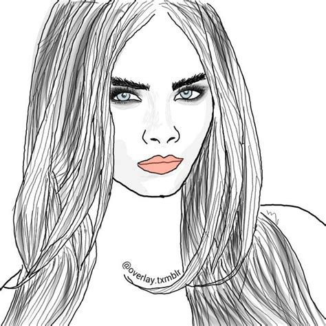 cara membuat outline tumblr cara delevingne image 3389324 by lady d on favim com