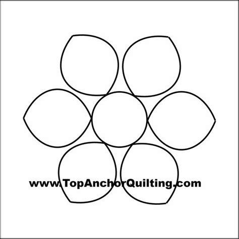 longarm templates dahlia quilt templates patterns topanchor quilting tools