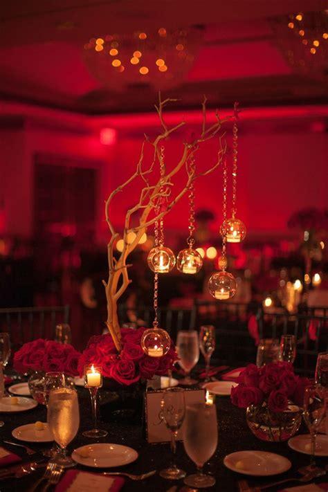 black red wedding centerpieces www armoniapr com