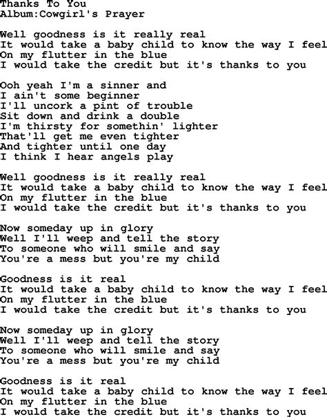 song to emmylou harris song thanks to you lyrics