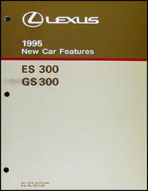 free car repair manuals 1995 lexus es auto manual 1995 lexus es300 repair shop manual original 2 volume set