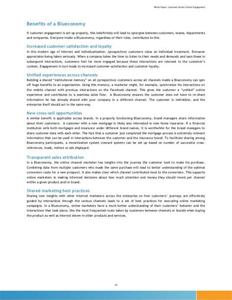 Customer Engagement Letter 1 12291 White Paper Customer Driven Engagement Letter