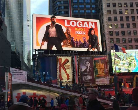 incredible logan poster painted  ipad pro towers  times square cult  mac