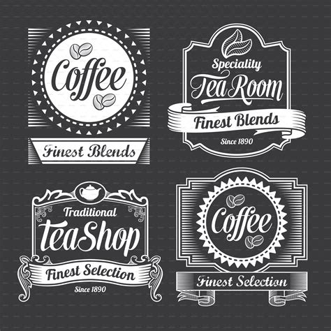 chalkboard calligraphy banners and labels by rtguest