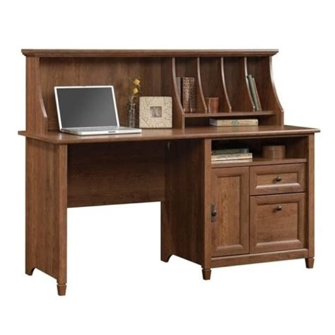 Bowery Hill Computer Desk With Hutch In Auburn Cherry Bh Cherry Computer Desk With Hutch