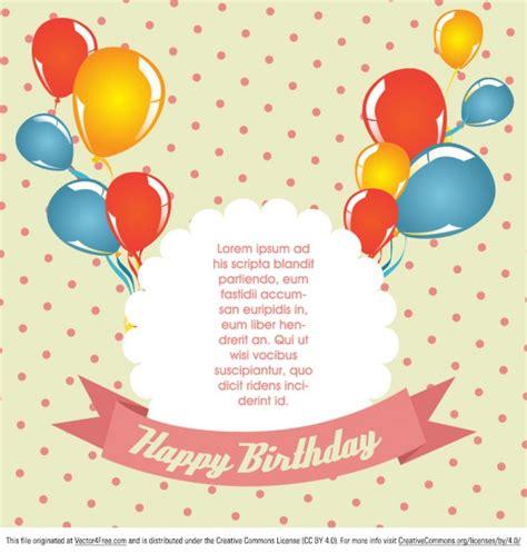 Office Birthday Card Template by Cart 227 O De Anivers 225 De Bolinhas Vetor Baixar Vetores