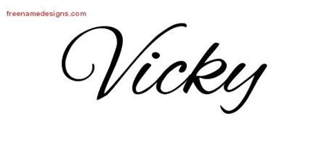 vicky tattoo designs 168 best images about name on name design