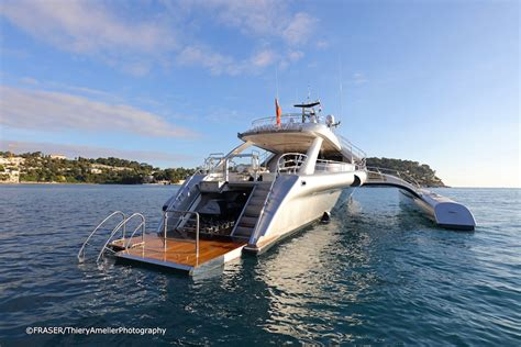 trimaran yacht galaxy experience futuristic cruising on m y galaxy of happiness