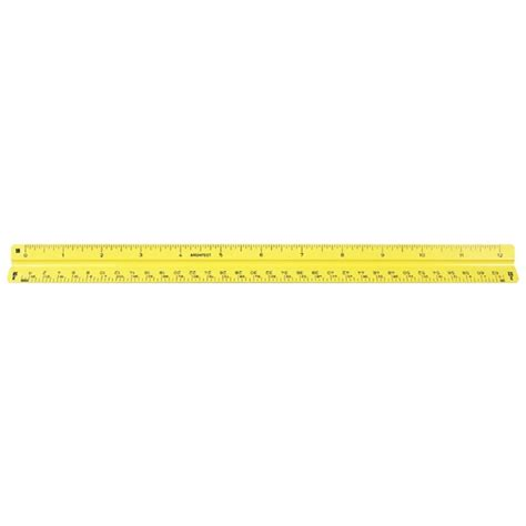 Alvin 610a Architects Scale Plastic by Alvin 12 Quot Yellow Plastic Architectural Scale 110py 92122