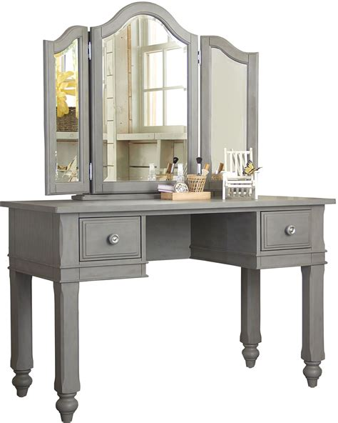 lake house writing desk with vanity mirror chair