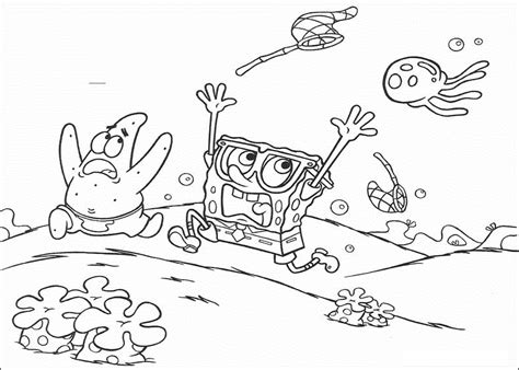 spongebob jellyfish coloring page spongebob jellyfish coloring pages for colored