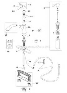 Delta Kitchen Faucet Parts List Delta Faucet 4353 Sd Dst Parts List And Diagram Ereplacementparts