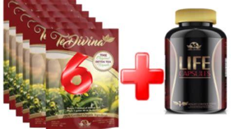 Te Divina Detox Tea Reviews by Te Divina 6 Packs Of Tea And Capsules Fast Safe