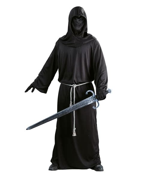 themes in black robe black robe with hood cap versatile cladding for men