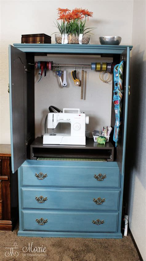diy armoire closet armoire into sewing center tutorial diy