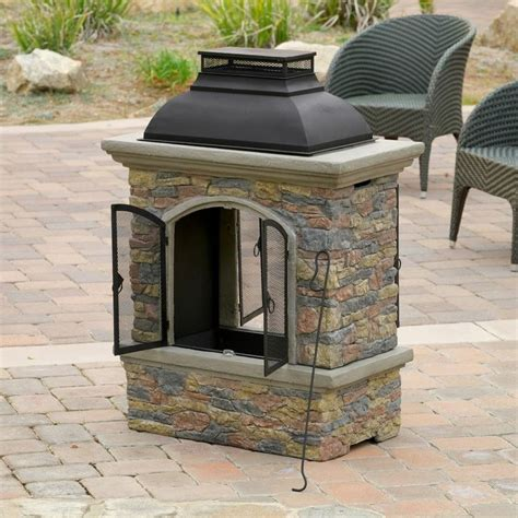 chiminea covered patio luxury outdoor patio furniture aged chiminea
