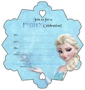 frozen birthday invitation printable frozen