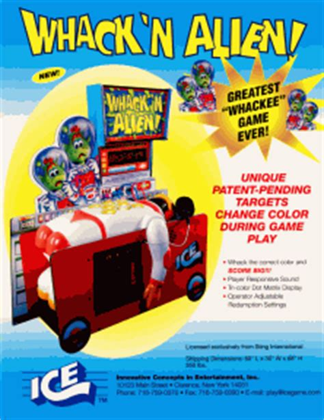 arcade flyer archive arcade game flyers whackn