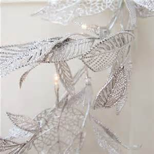 silver leaf light silver leaf light garland faulty bliss and bloom ltd