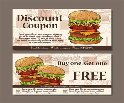 food voucher template 9 food voucher templates free psd vector ai eps