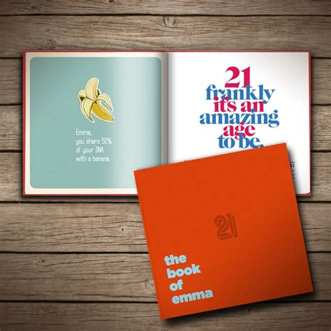 the birthday books personalised 21st birthday book of everyone by the book of