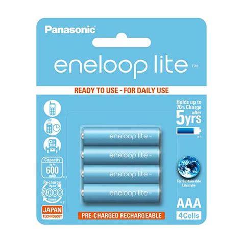 Panasonic Eneloop Aaa Isi 4 jual panasonic eneloop lite aaa 600mah isi 4 baterai