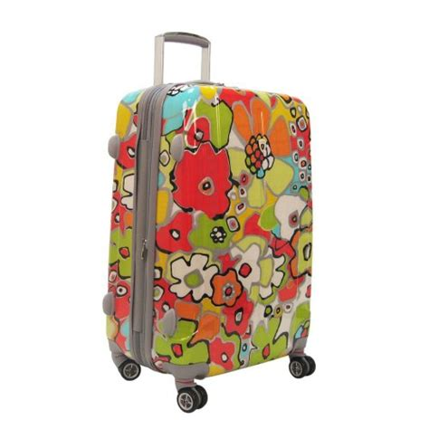flower pattern luggage olympia luggage blossom 25 inch expandable vertical