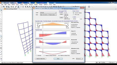 frame design 2d youtube sap2000 2d frame tutorial civil engineering youtube