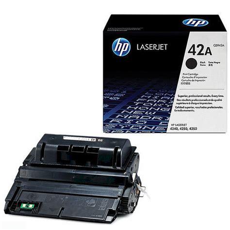 Toner Hp Laserjet Black 42a Q5942a Original hp 42a black laserjet toner cartridge q5942a