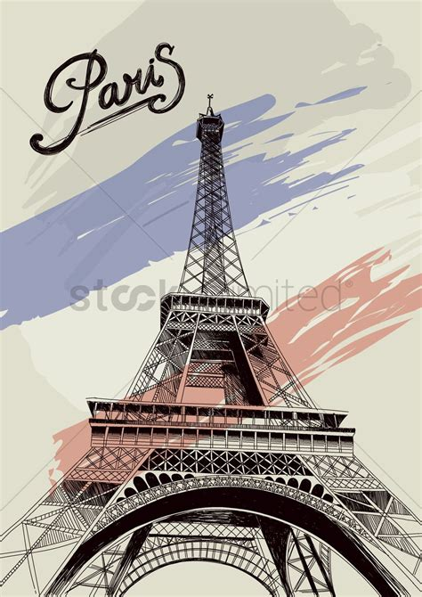 Eiffel Tower Poster eiffel tower poster vector image 1568048 stockunlimited