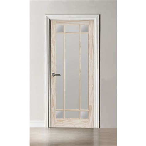 Homebase Patio Doors Kensington Fully Glazed Clear Pine Door 762mm Wide
