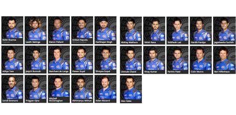 ipl mumbai team players mumbai indians team players 2017 googluu