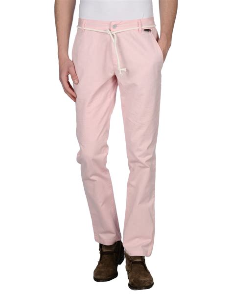 light pink chinos mens eleven paris casual pants in pink for men lyst