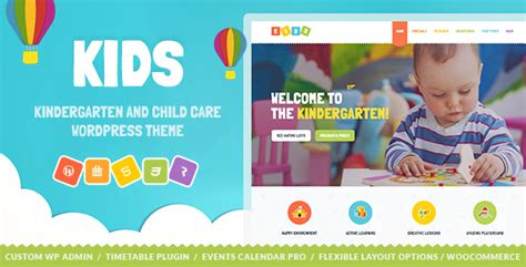 wordpress themes children s book kids day care kindergarten wordpress theme for