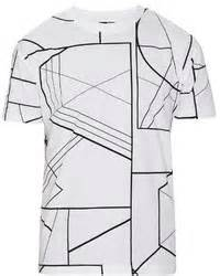 White Smtb Print T Shirt asos t shirt with varsity print and layer effect