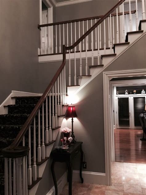 foyer paint colors sherwin williams foyer with sherwin williams dorian gray we bought this