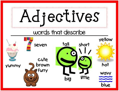 Free Printable Adjective Poster | 1000 images about adjectives poster on pinterest