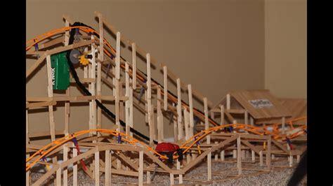 real wooden knex roller coaster spitfire youtube