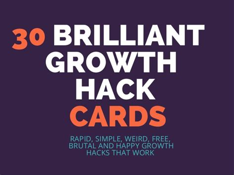 Hack Gift Card - 30 brilliant marketing growth hack cards