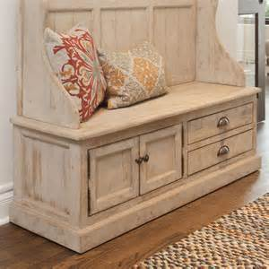 Saved To The Uttermost Kosas Home Elodie Pine Storage Entryway Bench Amp Reviews