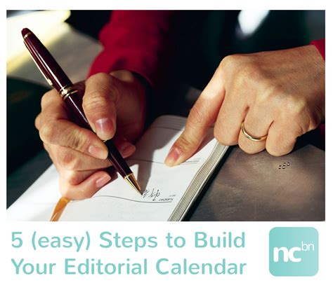 3 simple steps to build your blog using wordpress cms 5 easy steps to build an editorial calendar nc blogger