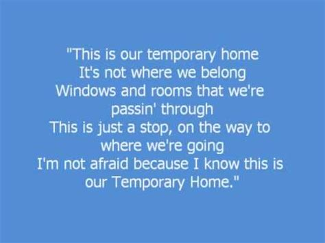 temporary home carrie underwood w lyrics