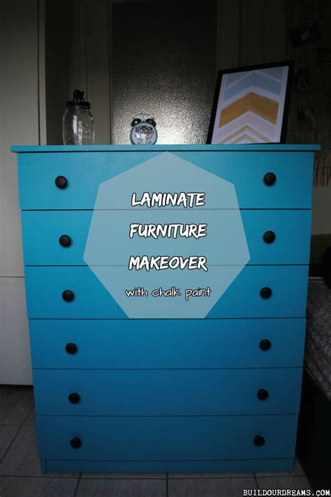 chalk paint veneer laminate furniture makeover with chalk paint home