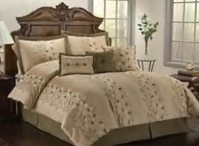 Olive Green Comforter Sets 7 Piece Mp Vine Olive Green Amp Beige Luxury Comforter