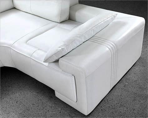 White Leather Modern Design Sectional Sofa Set 44l0738 White Leather Sofa Sets
