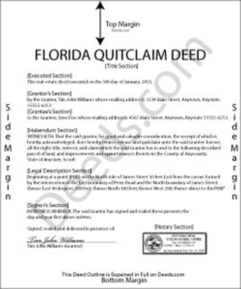 florida quit claim deed form template florida quit claim deed forms deeds