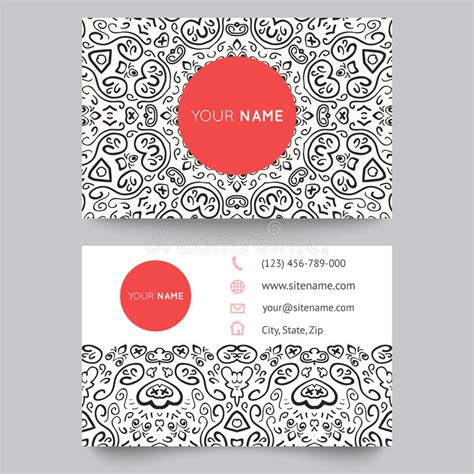 free vector fashion business card templates business card template black and white stock vector